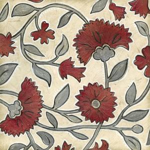 Red and Grey Floral II by Megan Meagher