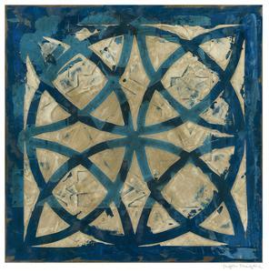 Stained Glass Indigo IV by Megan Meagher