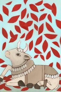 Nandi with Red Leaves, 2015 by Megan Moore