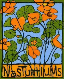 Nasturtiums, 2004 by Megan Moore