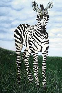 At Attention Zebra by Megan Morris