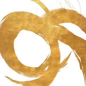Gold Circular Strokes II by Megan Morris