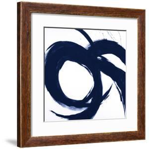 Navy Circular Strokes II by Megan Morris