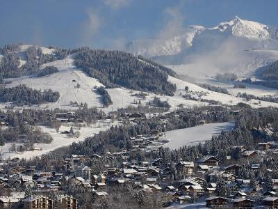 Megeve Village in Winter, Megeve, Haute Savoie, French Alps, France, Europe--Photographic Print