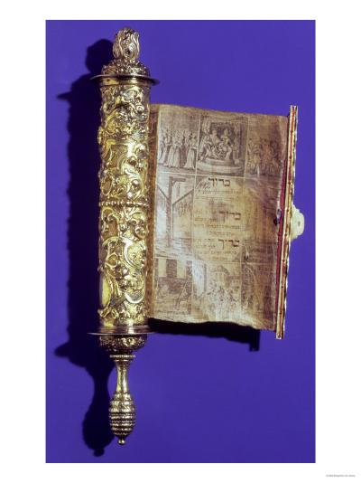 Megillah (Scroll of Esther) in a Silver Case, Vienna, circa 1715--Giclee Print