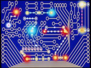 Computer Artwork Representing a Circuit Board by Mehau Kulyk
