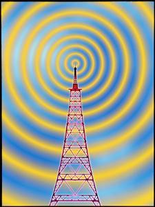 Computer Image of Radio Transmission by Mehau Kulyk