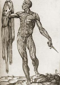 Man Holding a Dagger And His Skin by Mehau Kulyk