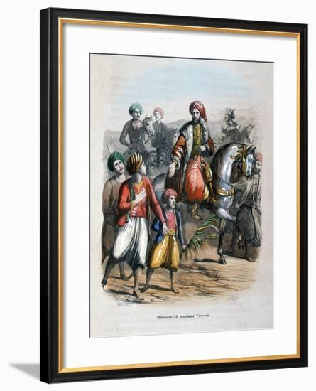 Mehmet Ali Proclaimed Viceroy, 1805-Jean Adolphe Beauce-Framed Giclee Print