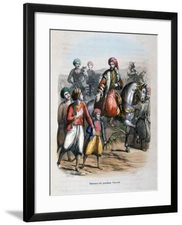 Mehmet Ali Proclaimed Viceroy, 1805-Jean Adolphe Beauce-Framed Giclee Print