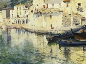 The Port of Cadaques by Meifren y Roig Eliseo