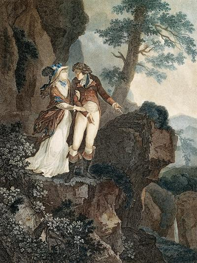 Meillerie's Rock, Illustration from Julie, or New Heloise by Jean-Jacques Rousseau--Giclee Print
