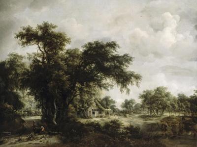 La ferme by Meindert Hobbema