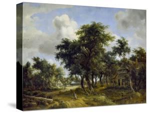 Village Street under Trees, about 1665 by Meindert Hobbema