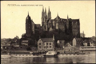 Meißen Elbe, Dampfer Karlsbad, Albrechtsburg, Dom--Giclee Print