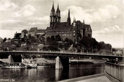 Meißen Sachsen, Brücke, Schloss, Dampfer Salesel--Giclee Print