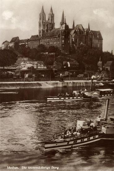 Meißen Sachsen, Dampfer Germania,Tausendjährige Burg--Giclee Print