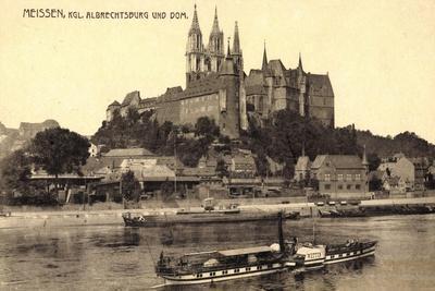 Meißen Sachsen, Kgl. Albrechtsburg, Dampfer Wettin--Giclee Print