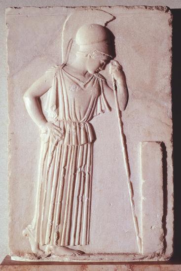 Melancholic Athena, Ca 450 BC, Relief, Greece--Giclee Print