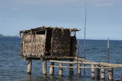 Melanesia, Papua New Guinea, Dobu Island. Typical Water Outhouse-Cindy Miller Hopkins-Photographic Print