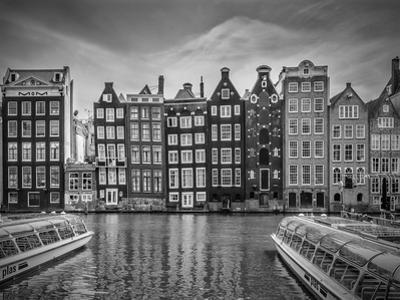 Amsterdam Damrak And Dancing Houses by Melanie Viola