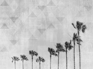 California Vibes Monochrome Art by Melanie Viola
