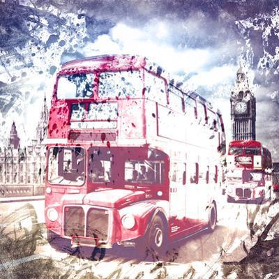 City Art London Red Busses by Melanie Viola