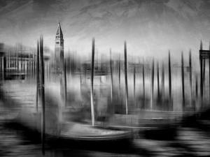 City Art Venice Grand Canal Monochrome by Melanie Viola