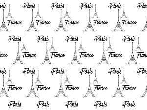 Digital Art Eiffel Tower Pattern by Melanie Viola