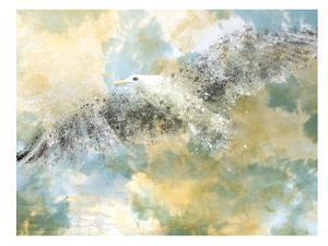 Digital Art Vanishing Seagull by Melanie Viola