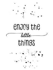 Enjoy The Little Things by Melanie Viola