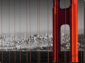 Golden Gate Bridge Panoramic View by Melanie Viola