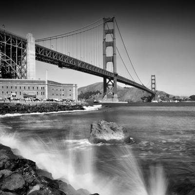 Golden Gate Bridge With Breakers by Melanie Viola