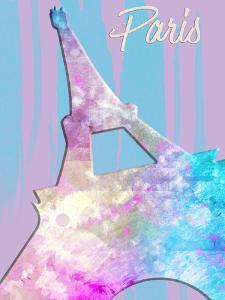 Graphic Style Paris Eiffel Tower Pink by Melanie Viola