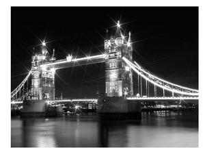 London Tower Bridge - Monochrome by Melanie Viola