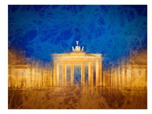 Modern Art Berlin Brandenburg Gate by Melanie Viola