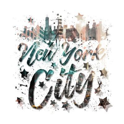New York City Typography Geometric Mix No 4 by Melanie Viola