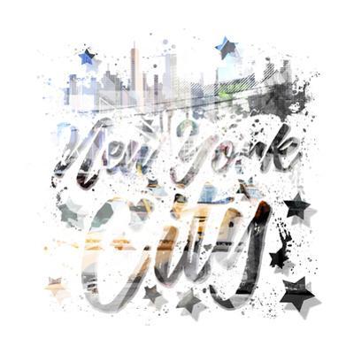 New York City Typography Geometric Mix No 9 by Melanie Viola