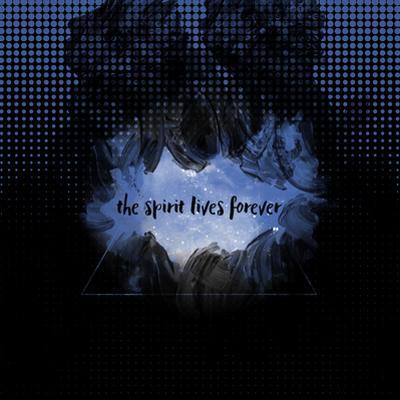 The Spirit Lives Forever Black Blue by Melanie Viola