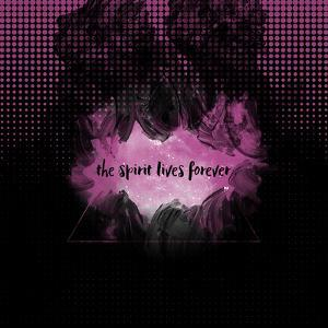 The Spirit Lives Forever Black Pink by Melanie Viola
