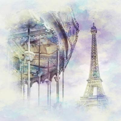 Typical Paris Jazzy Watercolor by Melanie Viola