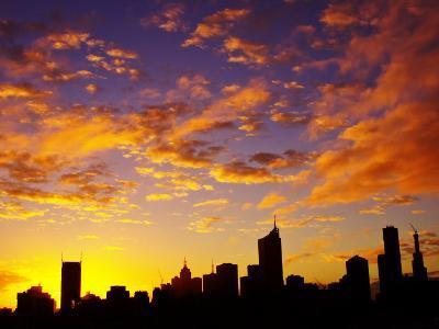 Melbourne CBD at Dawn, Victoria, Australia-David Wall-Photographic Print