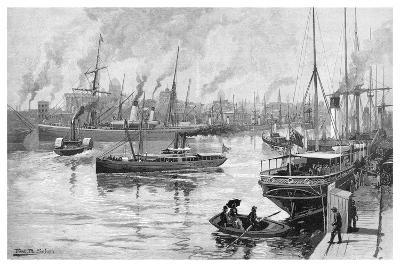 Melbourne from the Yarra, Victoria, Australia, 1886-Frederic B Schell-Giclee Print