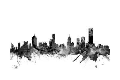 Melbourne Skyline-Michael Tompsett-Art Print