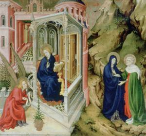 Annunciation and Visitation, 1394-1399 by Melchior Broederlam
