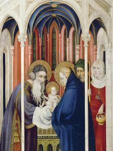 Circumcision of Jesus, Right Panel of Champmol Altarpiece, 1393-1399 by Melchior Broederlam