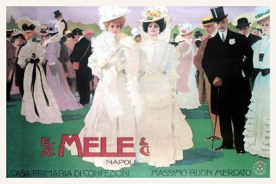 Mele Fashion for the Wealthy at the Races-Leopoldo Metlicovitz-Art Print