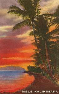 Mele Kalikimaka, Sunset on Lagoon