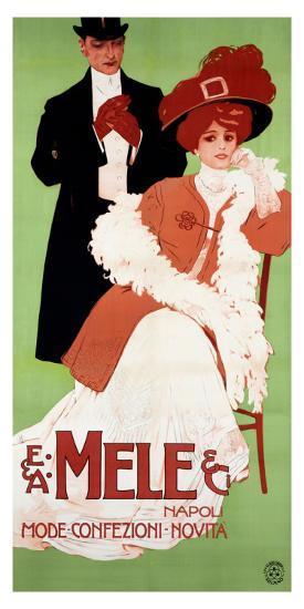 Mele Napoli, Mode Confezioni Novita--Giclee Print