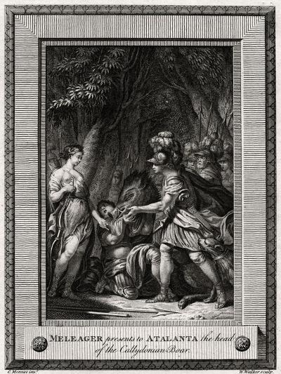 Meleager Presents to Atalanta the Head of the Callydonian Boar, 1774-W Walker-Giclee Print